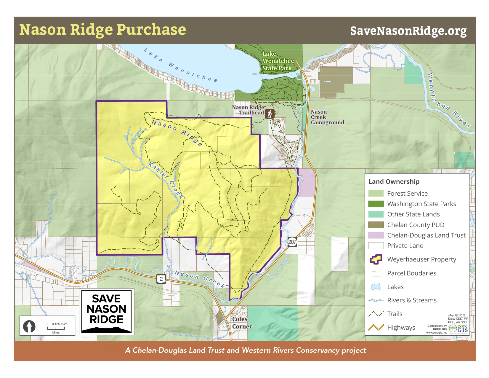map of Nason Ridge project