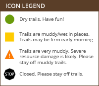 Trail Conditions Legend