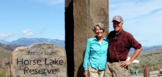 Eliot & Tina Scull at the Horse Lake Reserve dedication